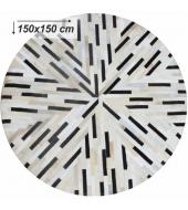 Luxusný koberec, pravá koža, 150x150, KOŽA TYP 8