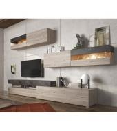 Obývacia stena, DTD laminovaná, dub nelson/betón, IOVA