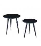 Sada 2 konferenčných stolíkov,  čierna/kov, EKERD