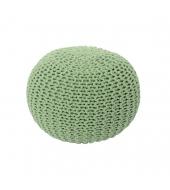 Pletený taburet, svetlozelená bavlna, GOBI TYP 2
