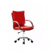 Kancelárske kreslo, ekokoža červená, QUIRIN