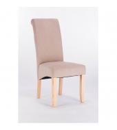 Jedálenská stolička, krémová, JUDY 2 NEW