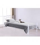 Kovová posteľ, biela, 90x200, RADANA