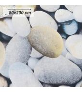 Koberec, vzor kamene, 80x200, BESS