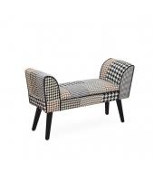 Dizajnová lavica, vzorovaná látka, PEPITO TYP 7