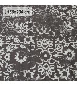 Koberec, vintage, tmavosivý, 160x230, MORIA