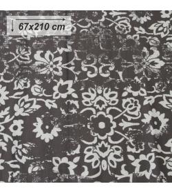 Koberec, vintage, tmavosivý, 67x210, MORIA