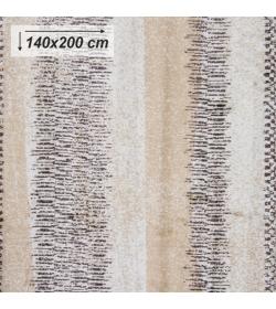 Koberec, béžová/vzor, 140x200, AVALON