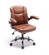 Kancelárske kreslo, hnedá ekokoža, GARED