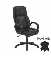 Kancelárske kreslo, koža/ekokoža čierna, LUMIR