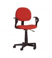Kancelárska stolička, červená, TC3-227