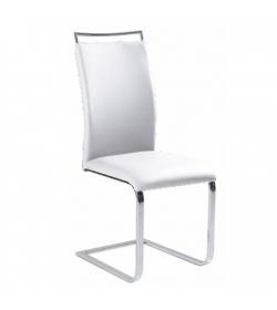Jedálenská stolička,  biela, BARNA NEW