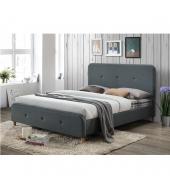 Manželská posteľ, tmavosivá, 160x200, COLON
