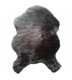 Koberec, umelá kožušina, sivá, 60x90, EBONY TYP 5