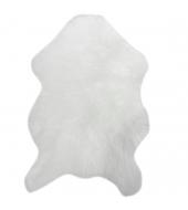 Koberec, umelá kožušina, biela, 60x90, EBONY TYP 1