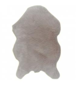 Koberec, umelá kožušina, béžová, 60x90,  EBONY TYP 2