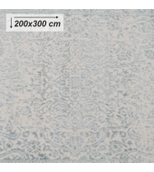 Koberec, krémová/sivý vzor, 200x300, ARAGORN