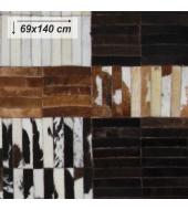 Luxusný koberec, pravá koža, 69x140, KOŽA TYP 4
