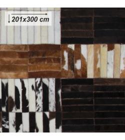 Luxusný koberec, pravá koža, 201x300, KOŽA TYP 4