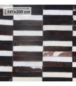 Luxusný koberec, pravá koža, 141x200, KOŽA TYP 6