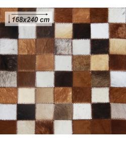 Luxusný koberec, pravá koža, 168x240, KOŽA TYP 3