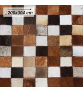 Luxusný koberec, pravá koža, 200x304, KOŽA TYP 3