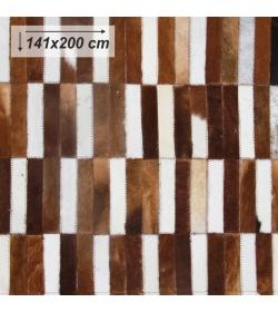 Luxusný koberec, pravá koža, 141x200, KOŽA TYP 5