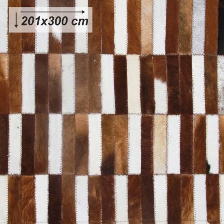 Luxusný koberec, pravá koža, 201x300, KOŽA TYP 5