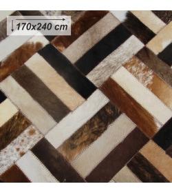 Luxusný koberec, pravá koža, 170x240 , KOŽA TYP 2