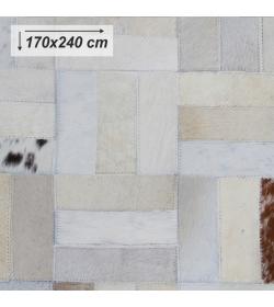 Luxusný koberec, pravá koža, 170x240, KOŽA typ 1