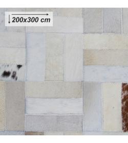 Luxusný koberec, pravá koža, 200x300, KOŽA typ 1