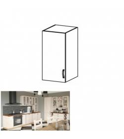 Horná skrinka, biela/sosna nordická, ľavá, ROYAL G30