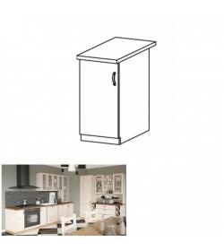 Spodná skrinka, biela/sosna nordická, ľavá, ROYAL D40