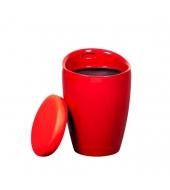 Taburet, červená, DALILA NOVA