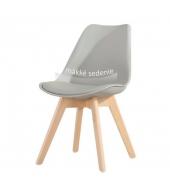 Stolička, sivá/buk, BALI NEW