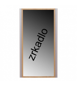 Zrkadlo, buk, strieborné, LISSI TYP 09
