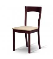 Drevená stolička z masívneho dreva, wenge/látka béžová FC, DELMA