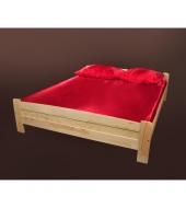 Manželská posteľ, drevo/borovica, 160x200, WIKTOR LR-40.1