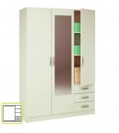 Skriňa so zrkadlom, biela, SLOT 400825