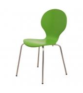 Stolička, drevo zelená/chróm, MAUI NEW