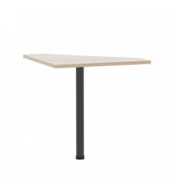 Rohový PC stôl, dub sonoma, JOHAN 06