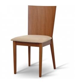 Drevená stolička, čerešňa/látka béžová, DACIA