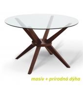 Jedálenský stôl, orech, GLAS