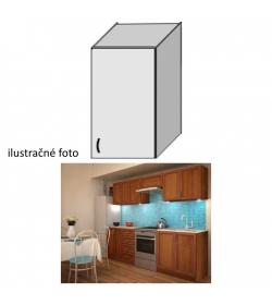 Kuchynská skrinka, horná policová, orech, LENKA G-40