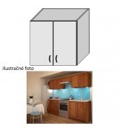Kuchynská skrinka, horná policová, orech, LENKA G-80
