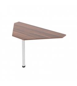 Kancelársky stôl rohový, slivka, JOHAN 11