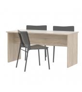 Kancelársky stôl obojstranný , dub sonoma, JOHAN 08