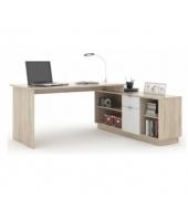 Kancelársky stôl, dub sonoma/biela, DALTON