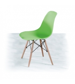 Stolička, zelená + buk, PC-015, CINKLA