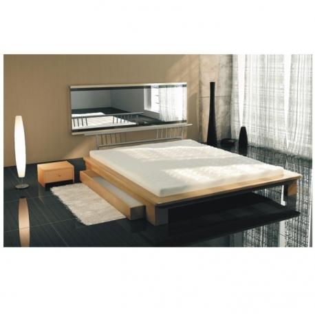 Manželská posteľ s matracom a roštom, buk, 160x200, KAPITOL 80220